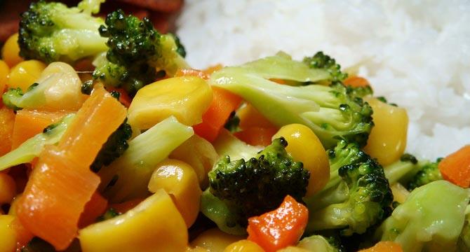arroz con delicias de verduras receta