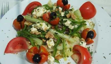 Ensalada griega fácil vegetariano