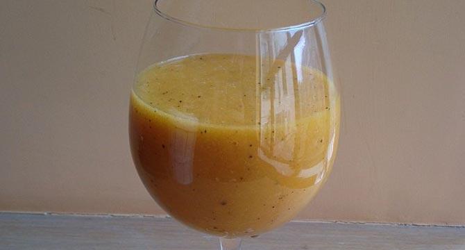 zumo digestivo de manzana papaya y piña